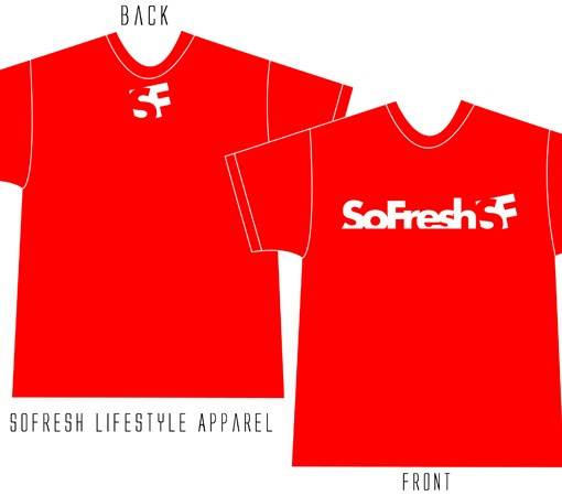 SoFresh Original Logo Tee Product Shot Red