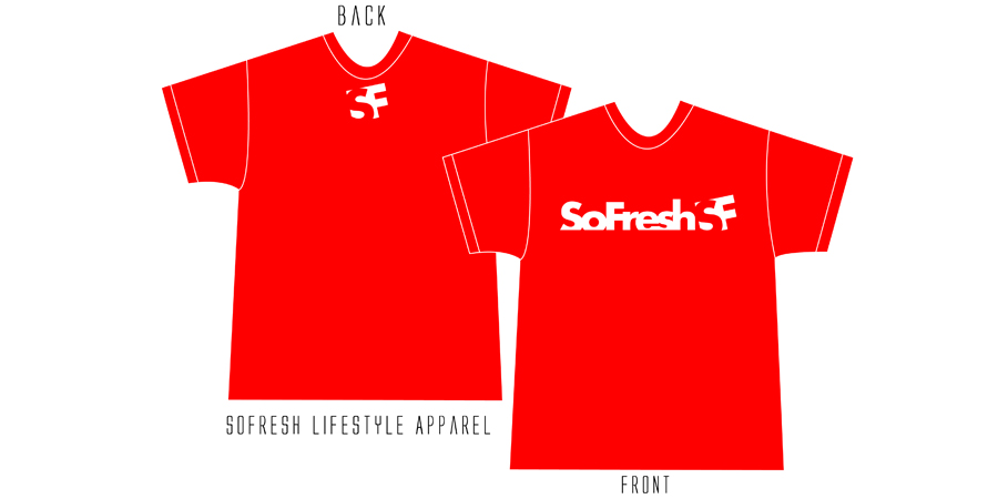 SoFresh Original Logo Tee Product Shot Red